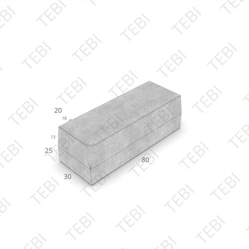 Inritperronband 18/20x25x80cm zwart R