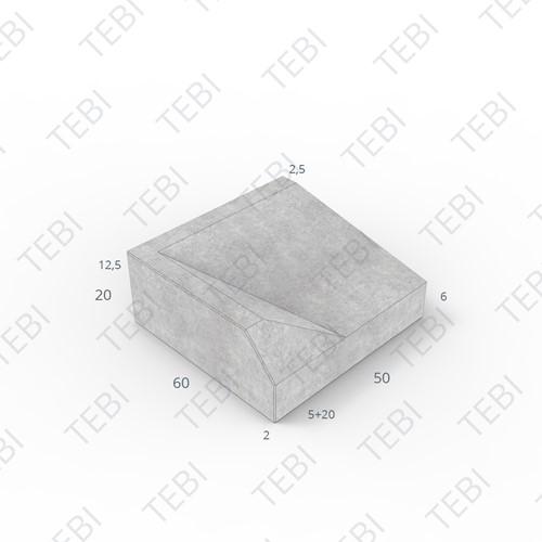 Inritband 60x50x20cm grijs links