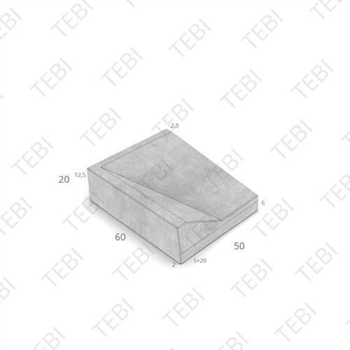 Inritband 60x50x20cm grijs rechts