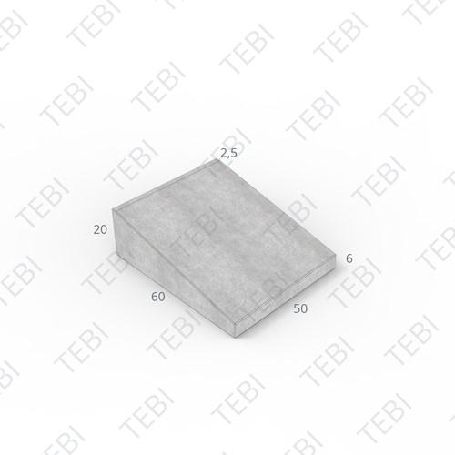 Inritband 60x50x20cm grijs tussen
