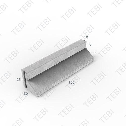 L-band 10/25x30x100cm Grijs