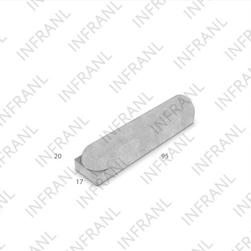 Stootband 20x17x95cm wit 1x ronde kop