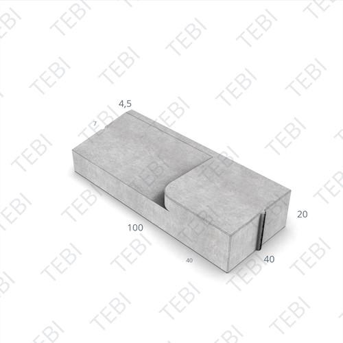 Inritband 40x100x20cm grijs rechts