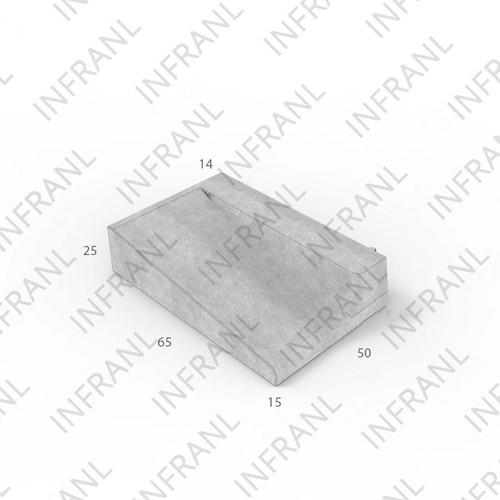 Inritband 65x50x25cm zwart rechts