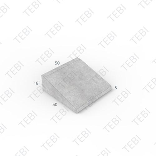 Inritband 50x50x18cm grijs tussen