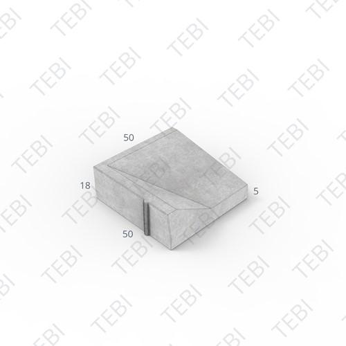 Inritband 50x50x18cm grijs links