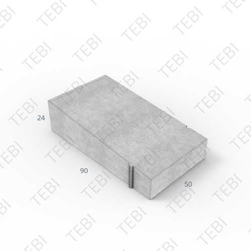 Inritband 90x50x24cm uitgew. zwart/groen tussen