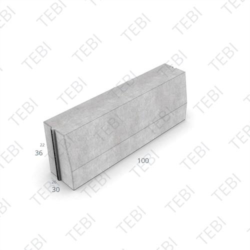 Trottoirband 26/30x36x100cm Grijs