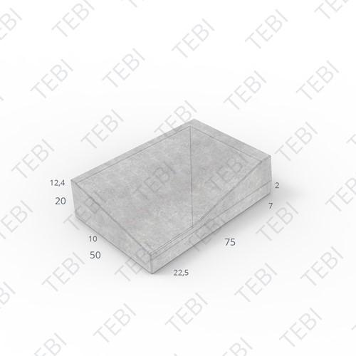 Inritband 50x75x20cm zwart rechts