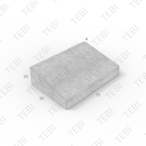 Inritband 50x75x20cm zwart tussen