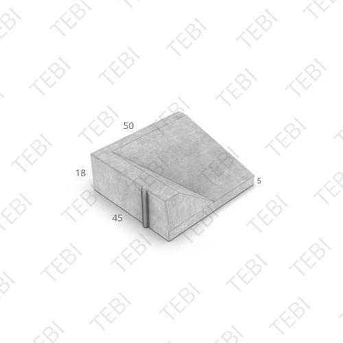 Inritband 45x50x18cm grijs links