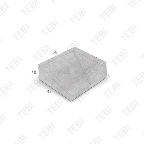 Inritband 45x50x18cm grijs rechts
