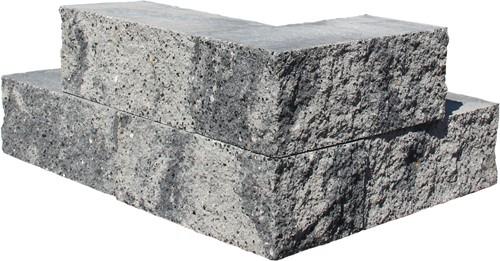 Nature Walling Hoek 29x13x11cm grijs/zwart