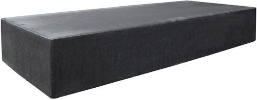 Traptrede massief 100x40x18cm zwart