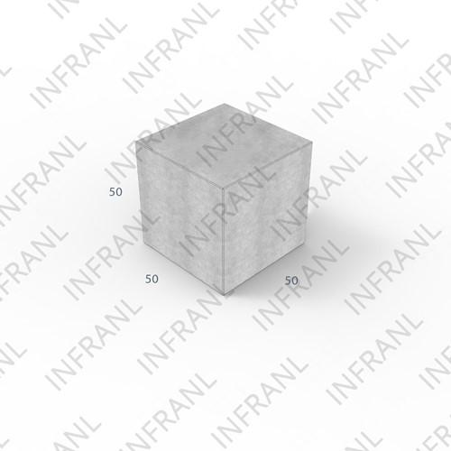 Stapelblok 50x50x50cm grijs
