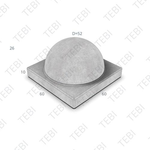 Antiparkeerelement Halve Bol model C grijs