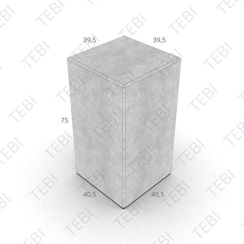 Siercarré Vierkant 40x40x75cm Grijs