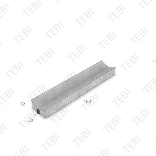 Molgoot 10x20x100cm grijs Uitholling 40mm