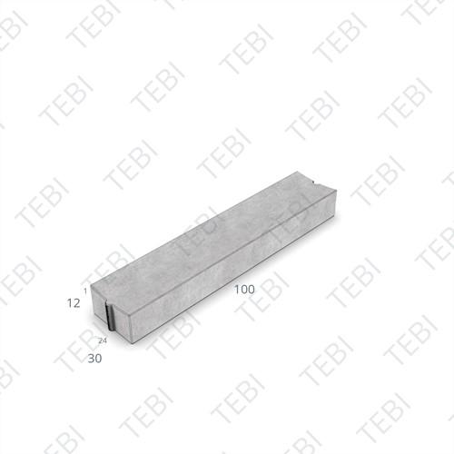 Molgoot 12x30x100cm grijs Uitholling 10mm