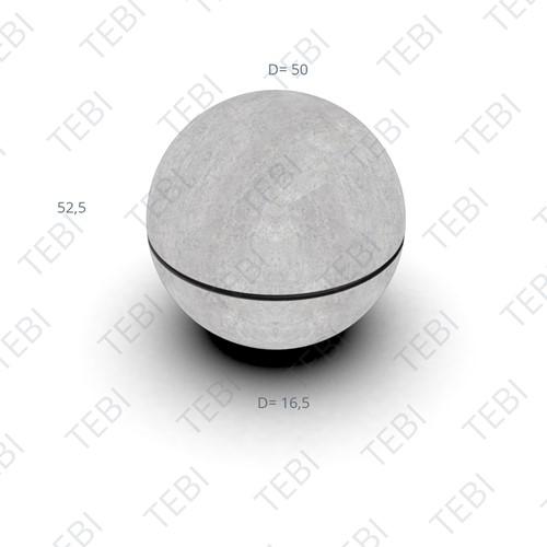 Sierbol ø50cm Sphere met groef grijs