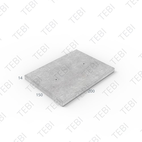 Cordonplaat Komo ZHR 200x150x14cm constructief net