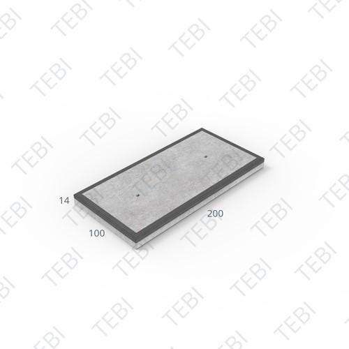 Industrieplaat C50/60 MHR EN 200x100x14cm Glad