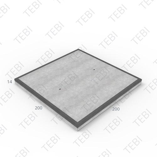 Industrieplaat C50/60 MHR EN 200x200x14cm Glad