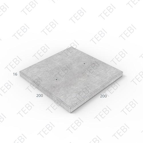 Industrieplaat C50/60 ZHR EN 200x200x16cm Glad