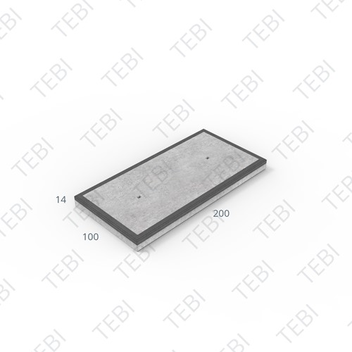 Cordonplaat Komo MHR 200x100x14cm constructief net