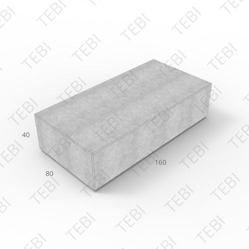 Megablok 160x80x40cm grijs zonder nok