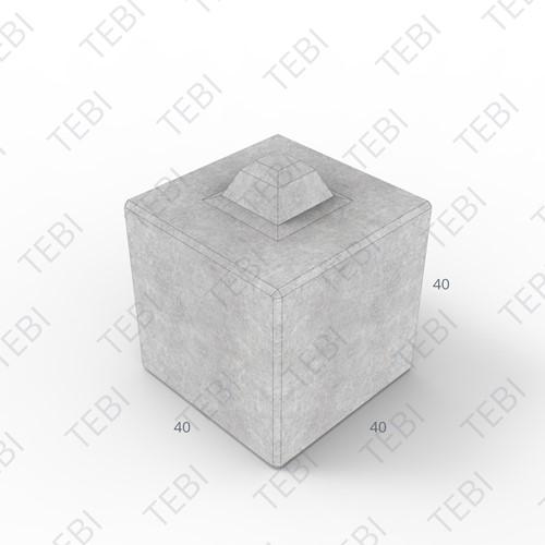Megablok 40x40x40cm grijs 8 nok