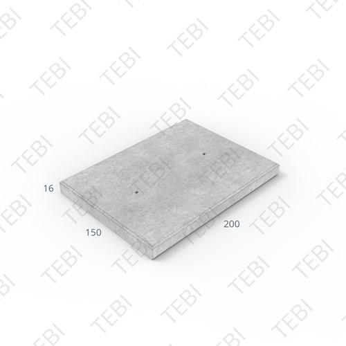 Industrieplaat C50/60 ZHR EN 200x150x16cm Glad