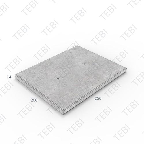 Transconplaat C50/60 ZHR DN 250x200x14cm