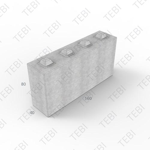 Megablok 160x40x80 grijs 8 nok