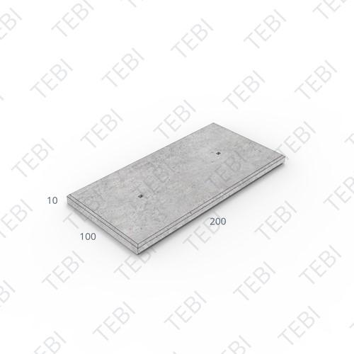 Industrieplaat ZHR 200x100x10cm