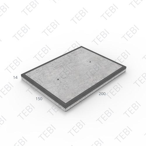 Transconplaat MHR B60 EN 200x150x14cm Glad