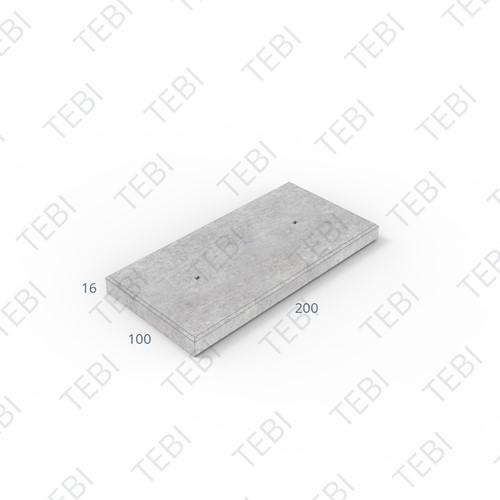 Transconplaat ZHR B60 EN 200x100x16cm Glad