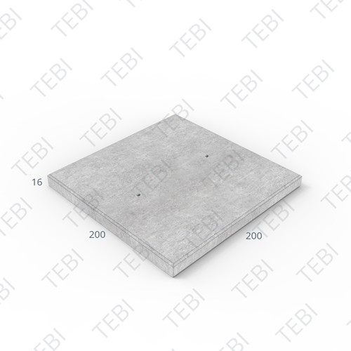 Transconplaat ZHR B60 EN 200x200x16cm Glad