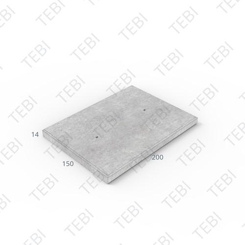 Industrieplaat ZHR 200x150x14cm EN B60 Greenline