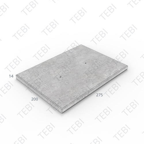 Industrieplaat ZHR 200x275x14cm DN