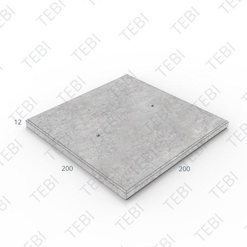 Industrieplaat ZHR 200x200x12cm EN B60
