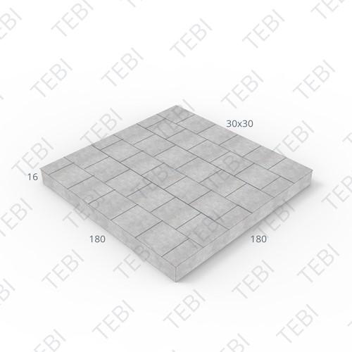 Mammoetplaat 180x180x16cm tegelmotief 30x30 halfsteens