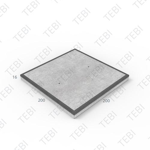 Transconplaat C50/60 MHR DN 200x200x16cm Glad Antraciet