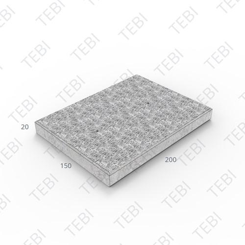 Stelconplaat Komo ZHR 200x150x20cm