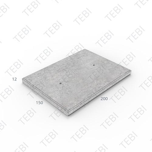 Industrieplaat ZHR 200x150x12cm EN B55