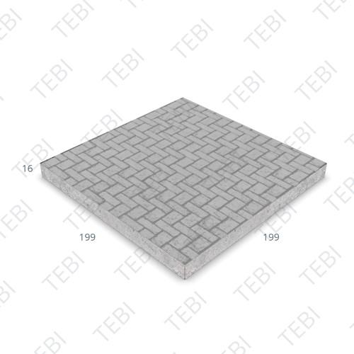 Industrieplaat C50/60 ZHR EN 200x200x14cm klinkermotief antraciet