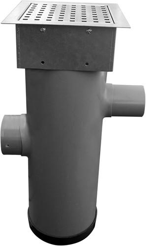 Hydroblob Zandvangput met loofscheider ZVP-MR Verzinkt 615HØ20cm, in-enuitlaat Ø100mm