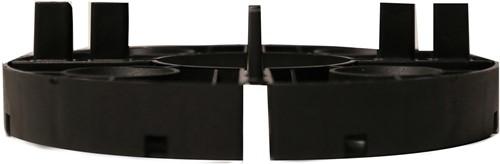 Tegeldrager Vast 15mm zwart