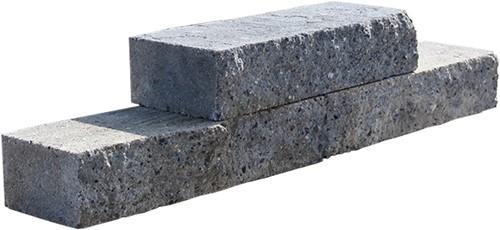 Stapelblok Brickwal Grijs/zwart 30x10x6.5