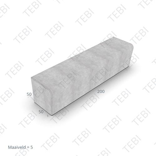 Zitelement Solid 50/45x50x200 donkergrijs